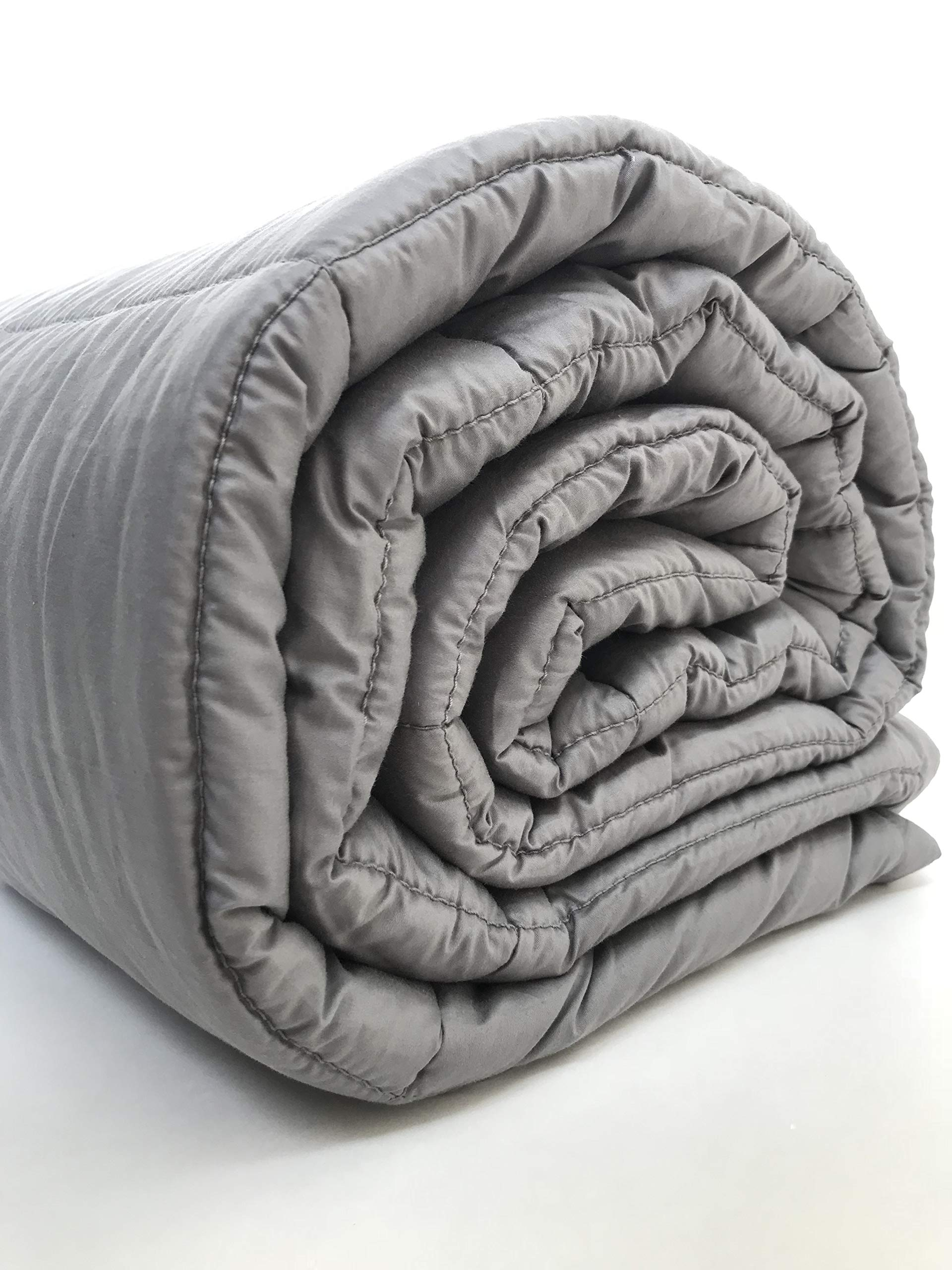 Weighted Blanket 20 lbs 60x80 inches Queen Size - Premium Gravity Heavy Blanket - Great Sleep Therapy for People with Anxiety - Autism - ADHD - Insomnia or Stress - Cotton - Glass Beads