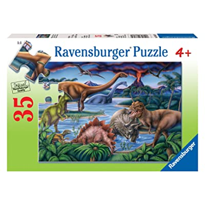 Ravensburger Dinosaur Playground - 35 Piece Jigsaw Puzzle for Kids – Every Piece is Unique, Pieces Fit Together Perfectly: Ravensburger: Toys & Games