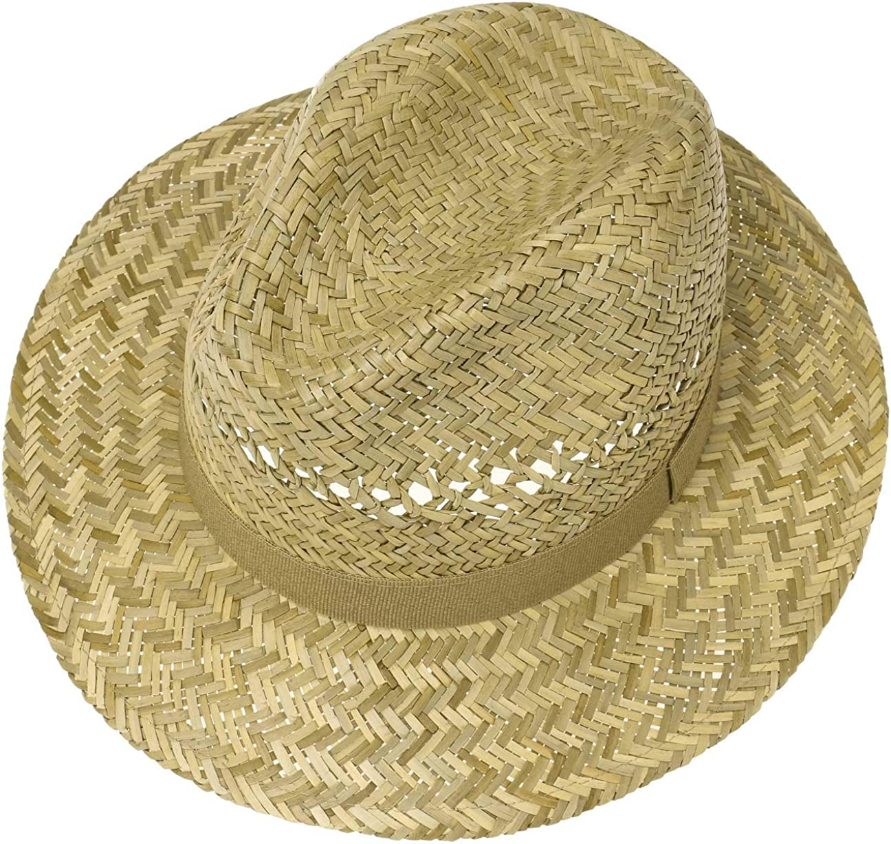 Made in Italy Lipodo Traveller Straw Hat Mens Sun Hat Made of Straw Traveller with Grosgrain Ribbon Spring//Summer