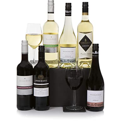 Australian Six Bottle Wine Selection Hamper Mixed 6 Bottle Wine Gift Box Classic Red White Wines Gift Set From Australia
