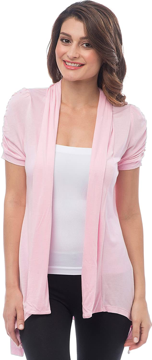 Sheer Short Sleeve Cardigan Cover-up at Amazon Women's Clothing store: