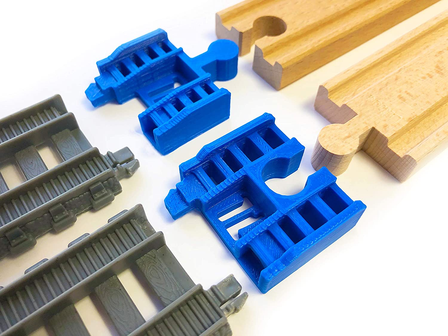 2pcs Black TrainLab Adapter Compatible with TrackMaster 2014 to Wooden Railway