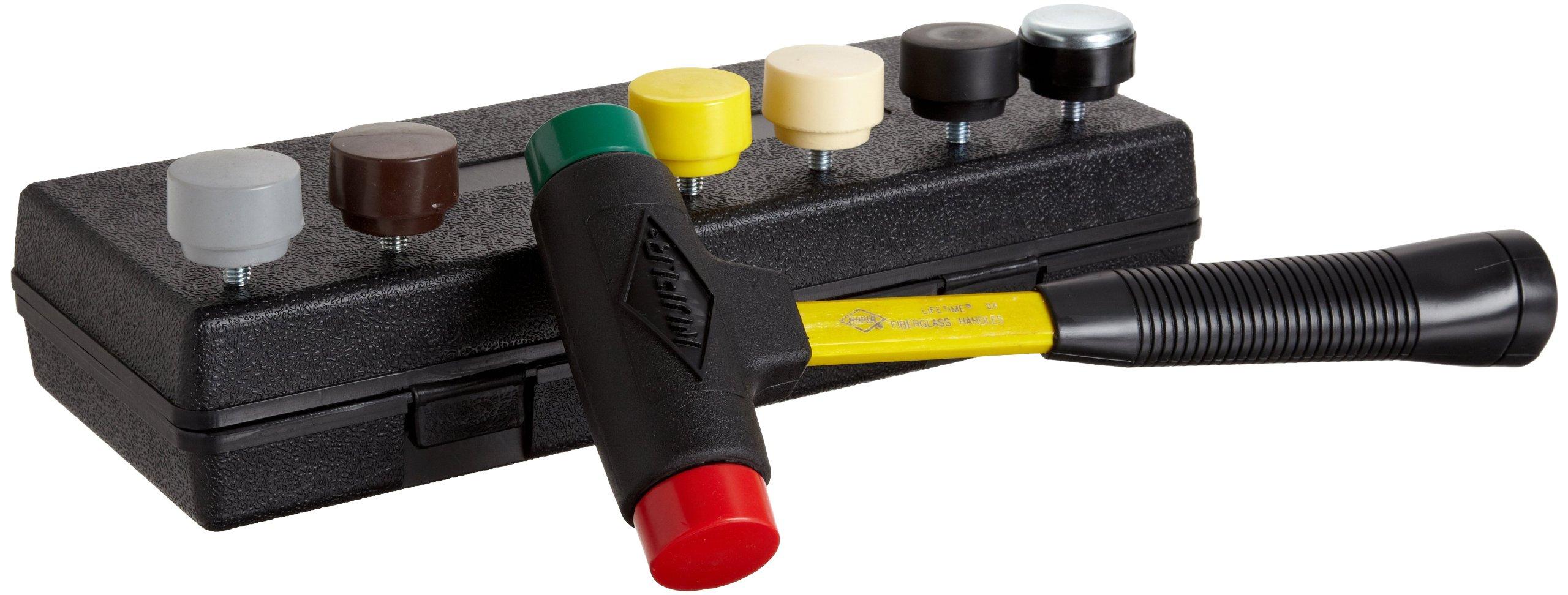 Nupla SPI-156-S6 9 Piece Quick Change Impax Sledge Power Drive Set with Carrying Case, C Grip, 12.5'' Long Handle