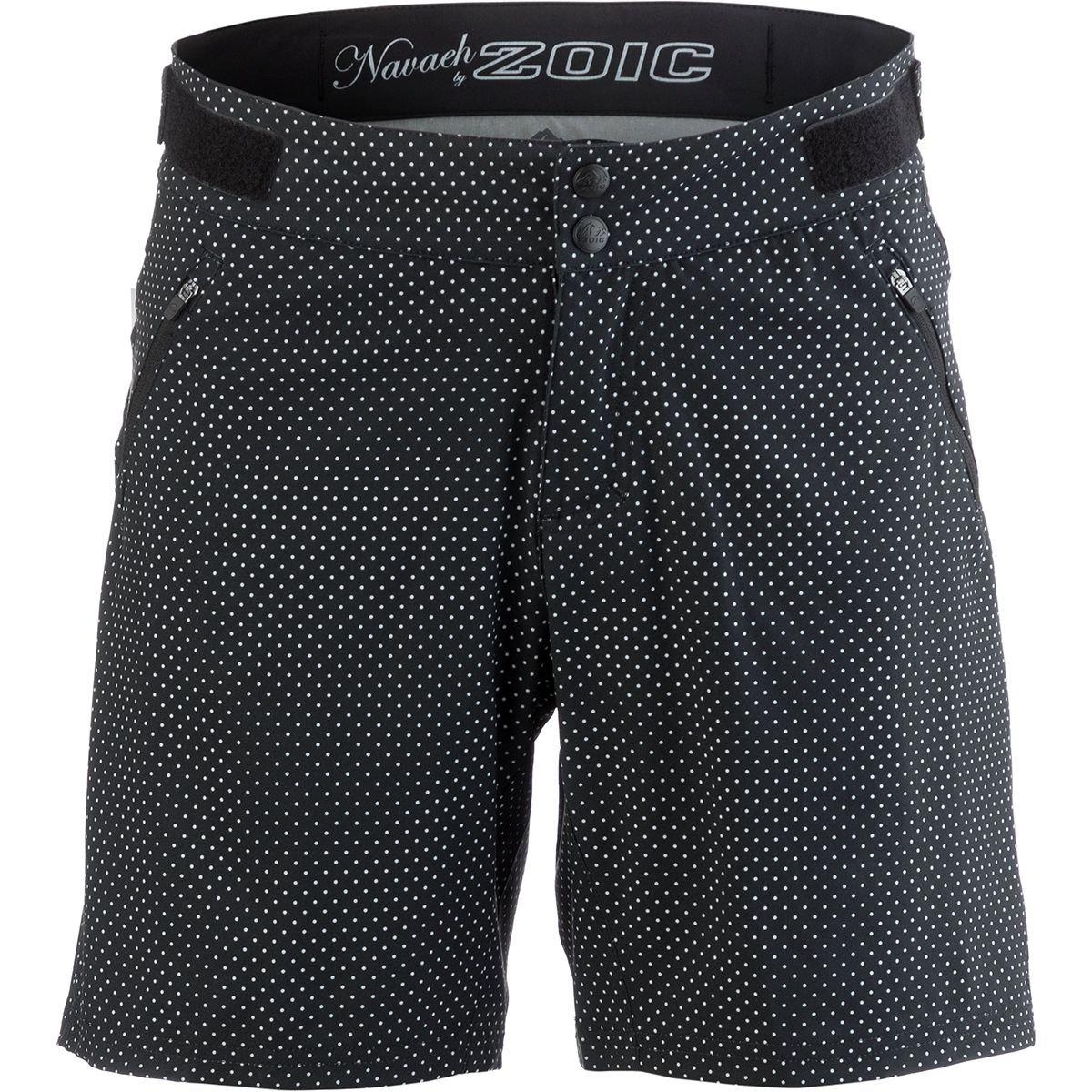 Zoic Navaeh 7 Novelty Bike Short – Women 's B07BHTLRSK Small|ブラック水玉 ブラック水玉 Small