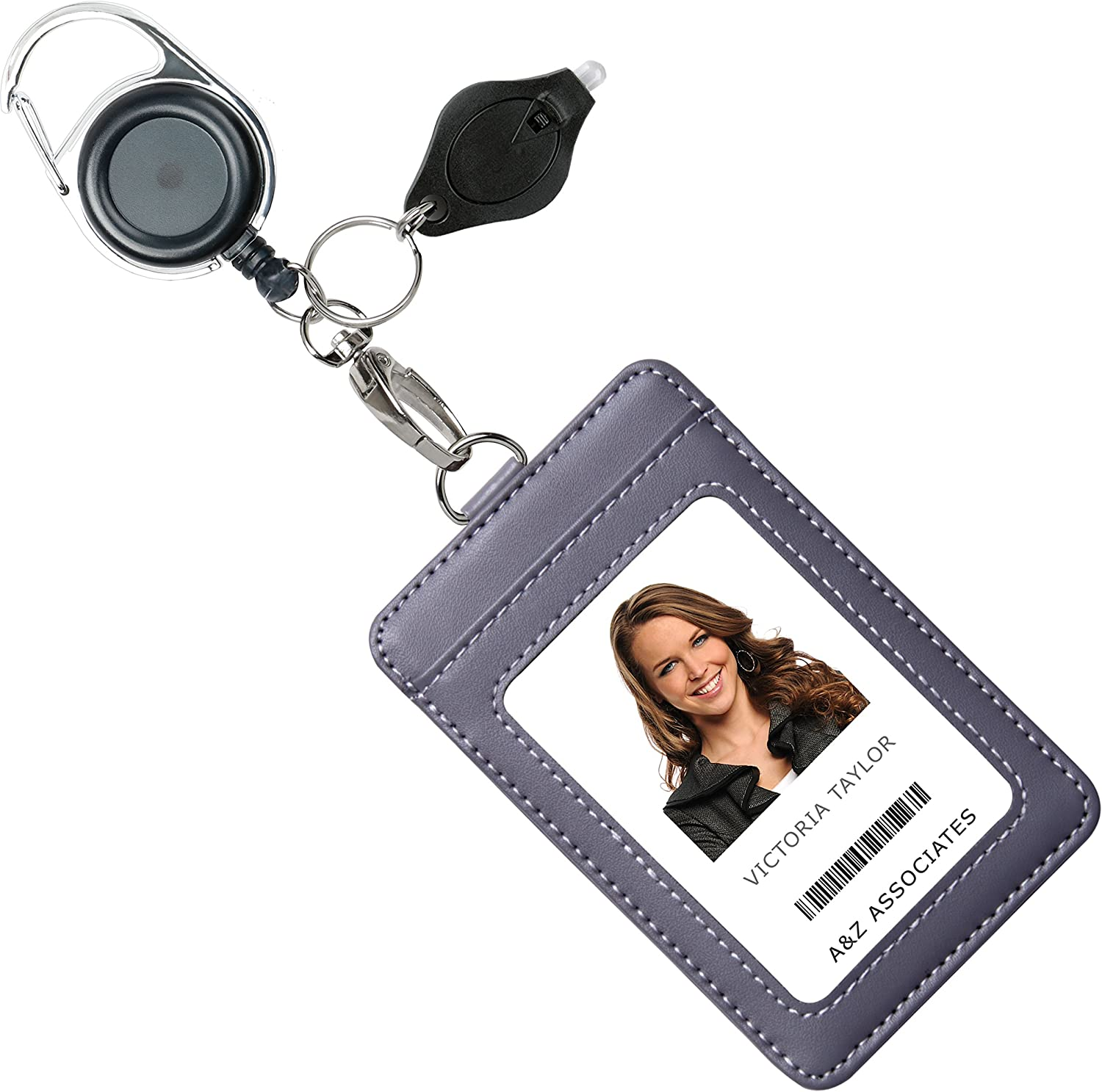 Card Anti-Lost Clip Office Supplies Retractable Key Ring Lanyards Badge Holder