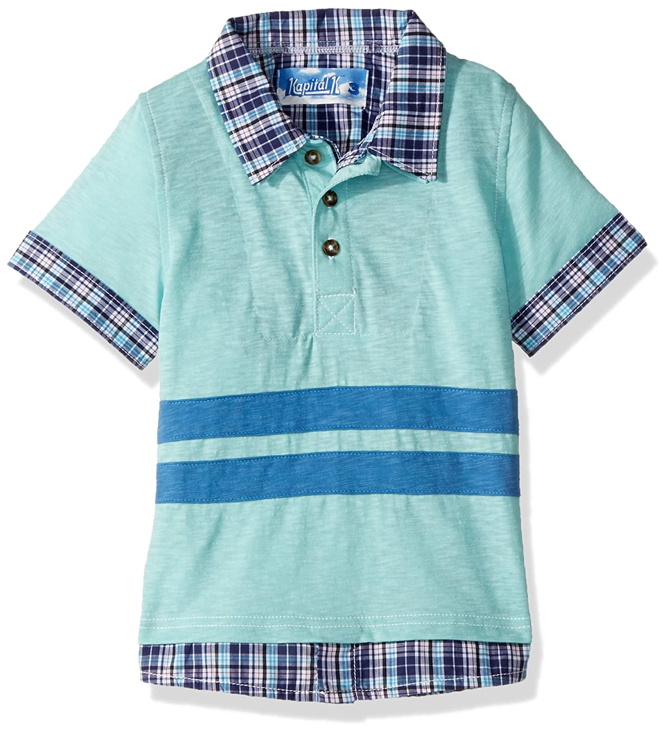 Kapital K Boys 2-in-1 Layered Polo with 3D Stripes