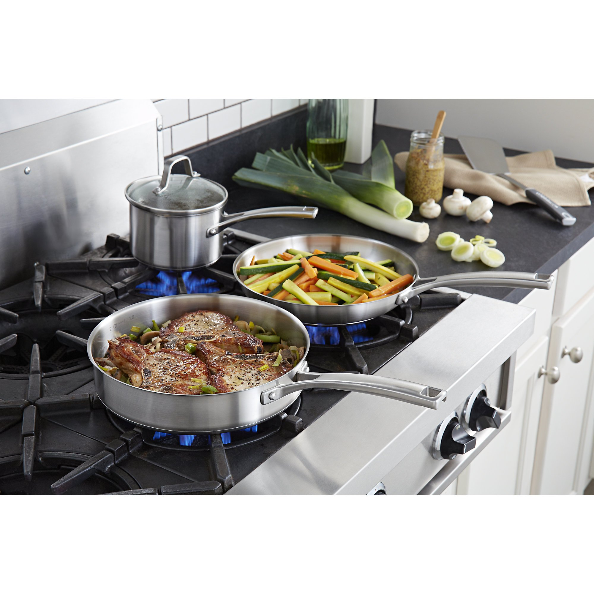 Calphalon Classic Stainless Steel Cookware Set, 10-Piece by Calphalon (Image #3)