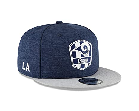 ea4e7c32c3e Amazon.com   New Era Los Angeles Rams 2018 NFL Sideline Road ...