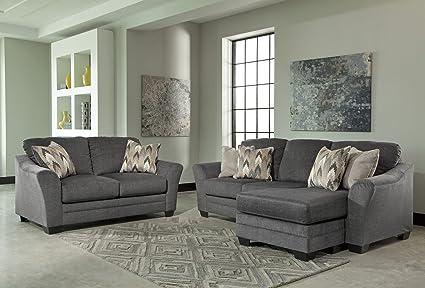 amazon com benchcraft braxlin contemporary sofa chaise four throw