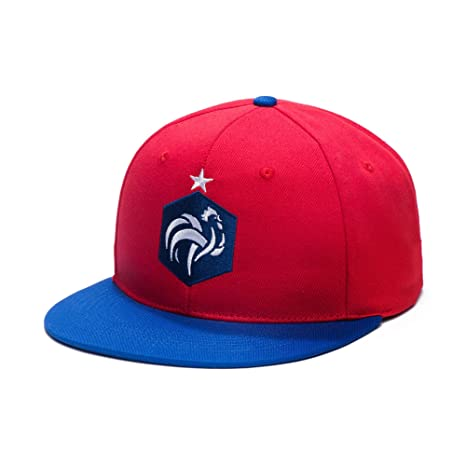 daaae094d67 Amazon.com   France Adjustable Snapback 2 Tone Flatbill Soccer Hat ...