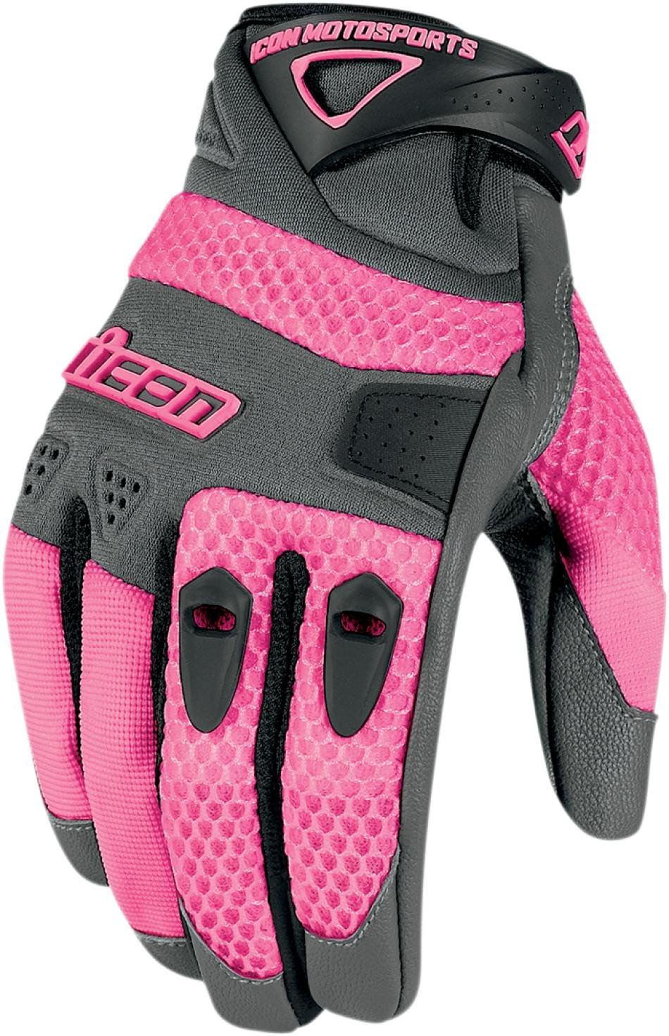 2013 Icon Anthem Women's Motorcycle Gloves - Pink - Small