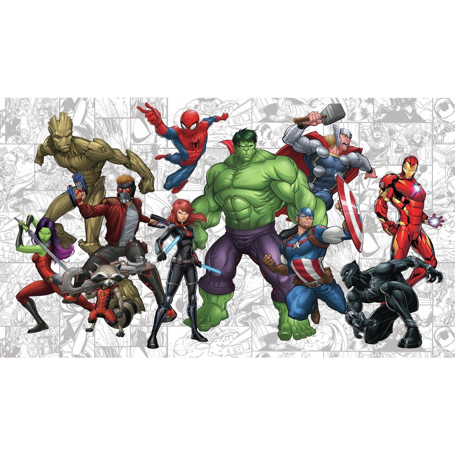 RoomMates Marvel Hero Prepasted, Removable Wall Mural - 6' X 10.5' by RoomMates (Image #2)