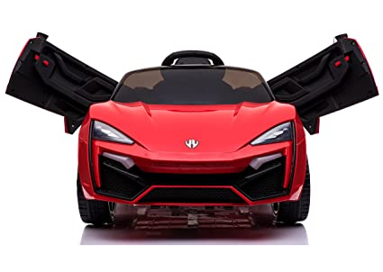 Toy House Fast n Furious Lykan Hypersport Car Rechargeable Battery Operated  Ride-on for Kids(2 to 7yrs) , Red