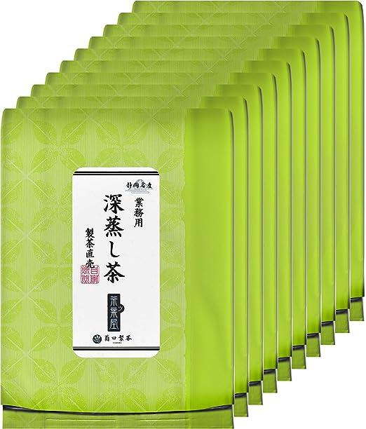 薗田製茶 静岡名産 深蒸し茶 茶葉 500g 業務用・お徳用 (10個セット)