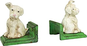 Design Toscano SP1224 Wheaten Scottish Terrier Dogs Cast Iron Sculptural Bookend Pair, full color