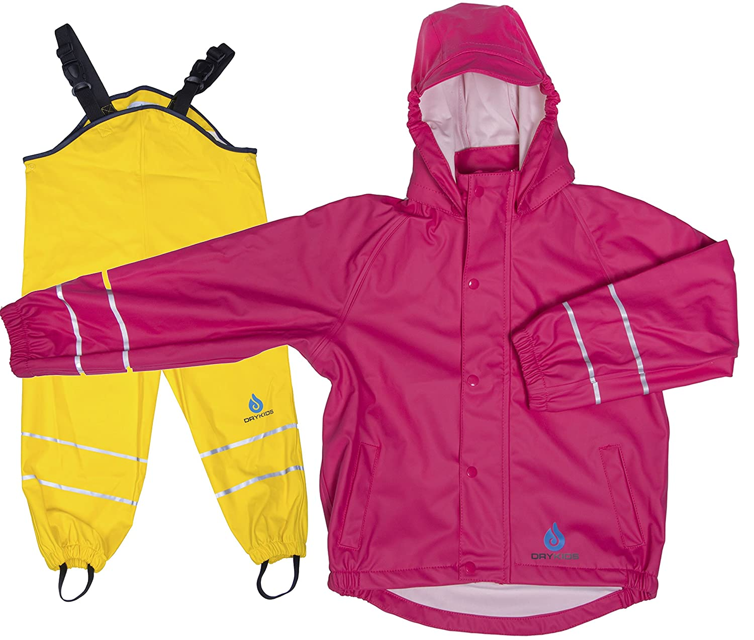 DRY KIDS PU Coated All in One Rainsuit for Boys and Girls
