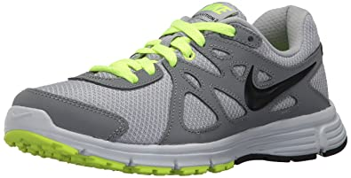 a8b0b474f Amazon.com | Nike Men's Revolution 2, Wolf Cool Grey/Volt/Black, 6 ...