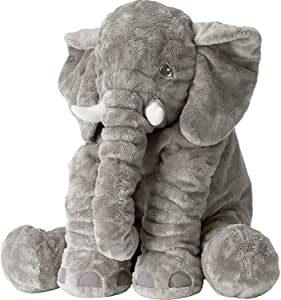 Tuko Big Elephant Stuffed Animals Plush Toy,Stuffed Elephant Cushion Doll Toy for Kids, for Baby Shower, Birthdays, Children, Grand Sons/Daughters