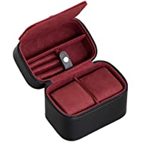 2 Watch Travel Case Storage Organizer for 2 Watches | Tough Portable Protection w/Zipper Fits All Wristwatches & Smart Watches Up to 50mm