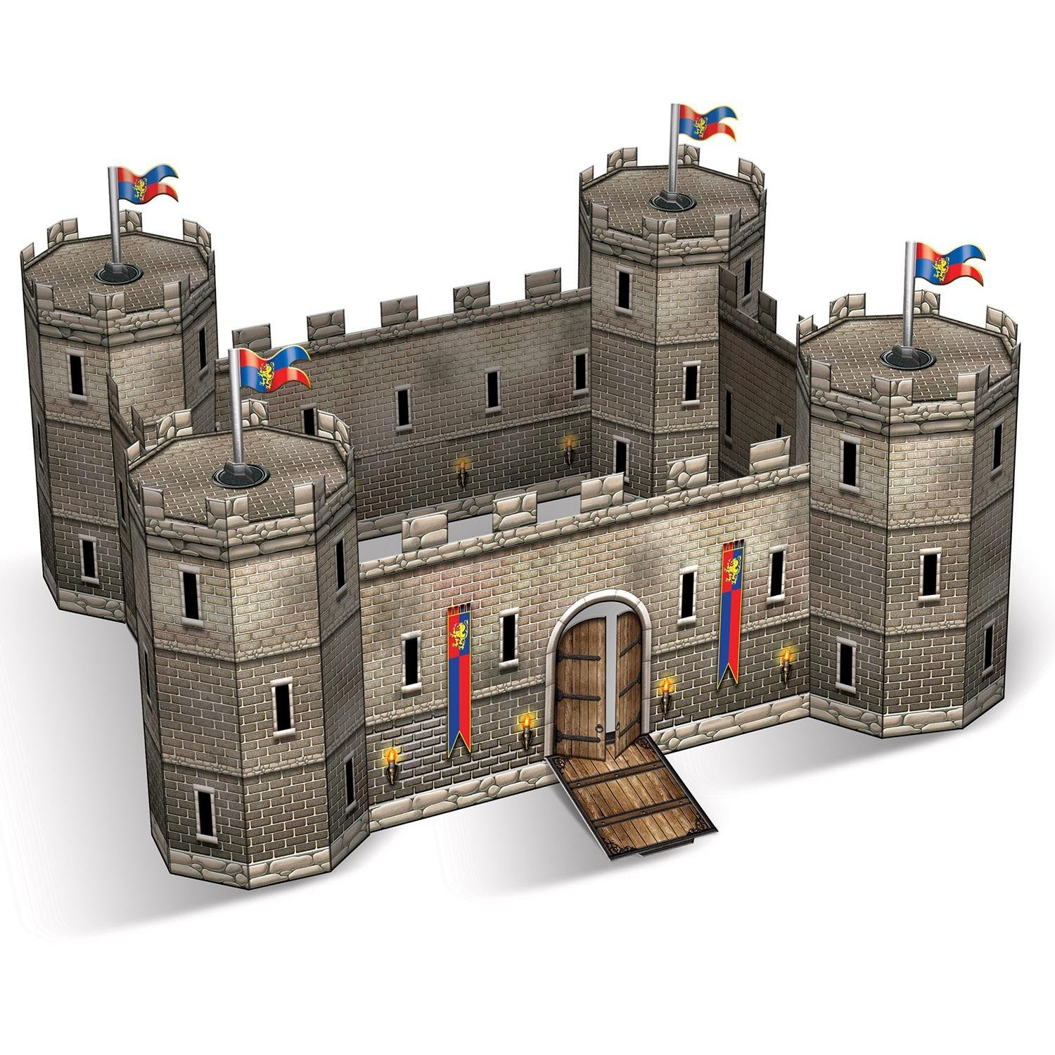 "Party Central Club Pack of 12 Decorative Medieval Birthday 3-D Castle Centerpiece 9"" by Party Central"