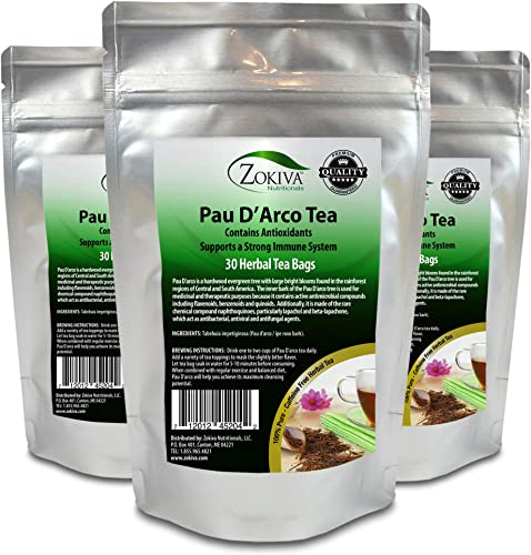 PAU D Arco Tea 3-Pack 100 Pure 90 Premium Bags All-Natural Immune System Support
