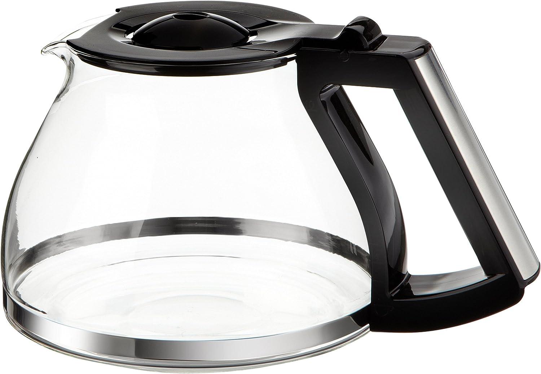 Melitta - Jarra de cristal para cafetera Look Deluxe 1011-06 o Timer 1011-08, color negro y acero: Amazon.es: Hogar