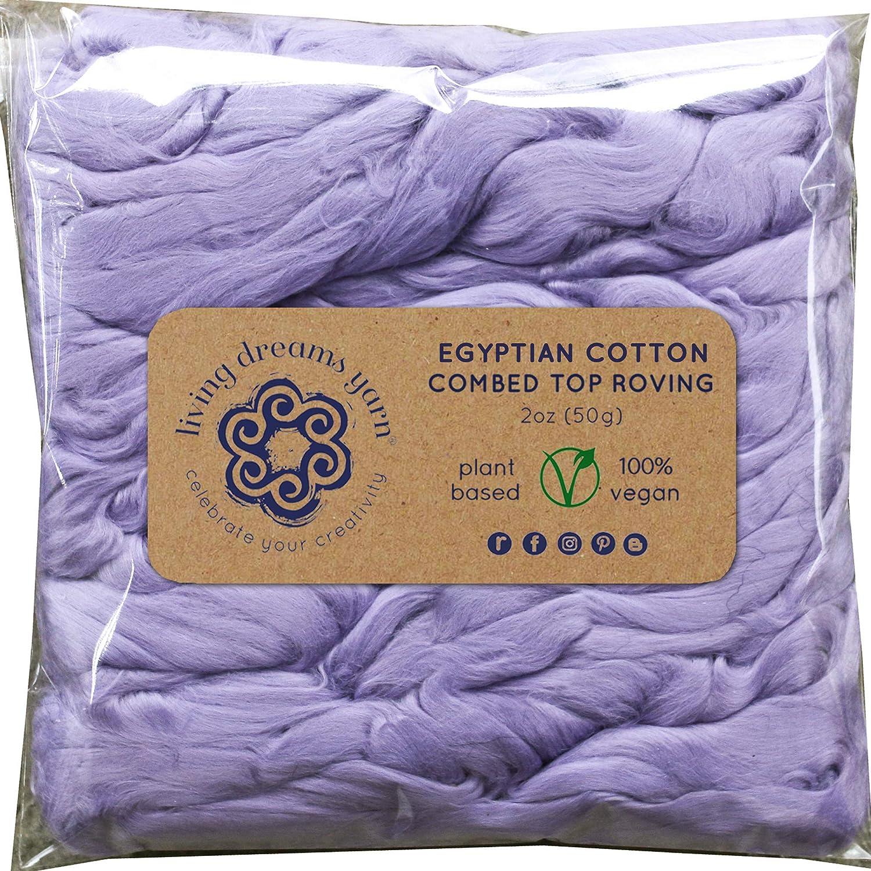 Curry Soft Vegan Combed Top Blending Cotton Fiber for Spinning Felting /& Fiber Arts