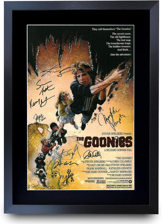 Format A3 HWC Trading Poster imprim/é Goonies The Cast Gifts avec autographe pour Fans de Films