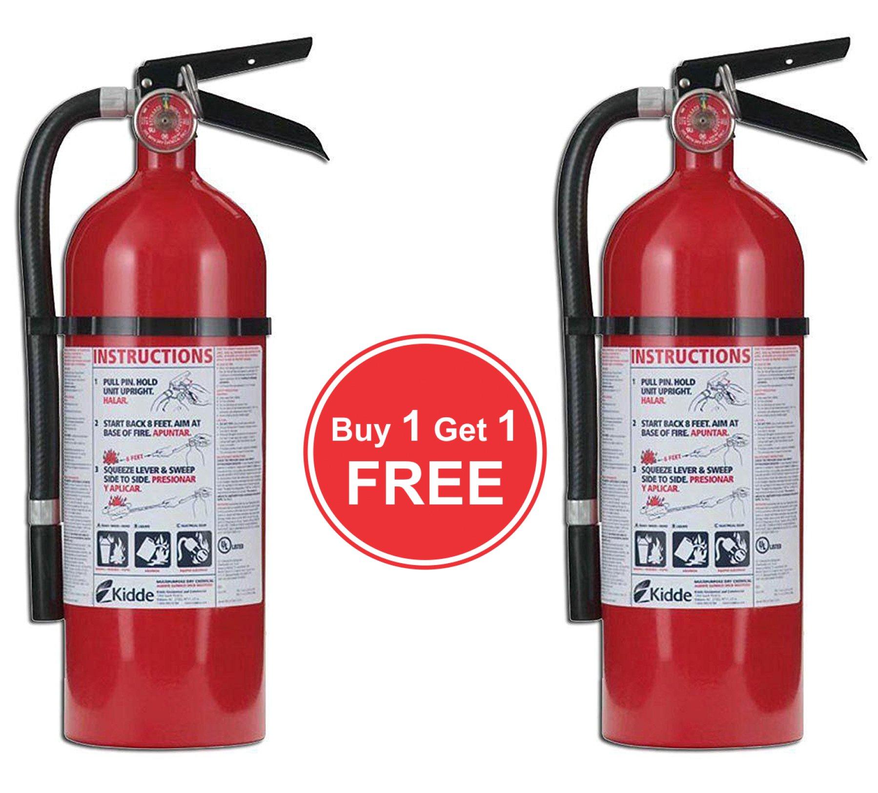 Kidde Pro 21005779 Fire Extinguisher, 4 lb, 2-A, 10-B:C