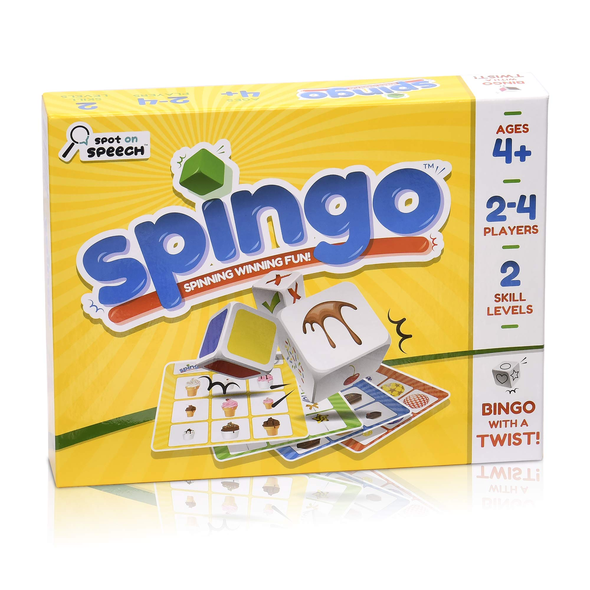 Spot on Speech Spingo - Bingo Style Game Targeting Descriptive Language, Sentence Structure, and Ability to Follow Multi-Component Directions