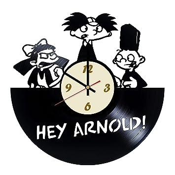 Amazoncom La Bella Casa Hey Arnold Cartoon Vinyl Wall Clock Get