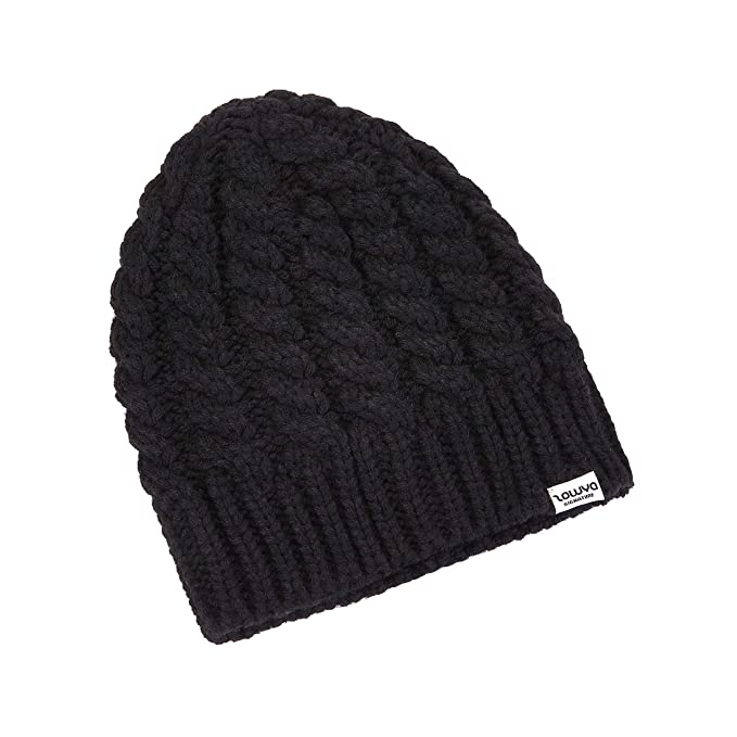 b46d6cf7a872fb ZOWYA Classic Warm Winter Hats Knit Cuff Beanie Cap Daily Beanie Hat for  Men Women Black