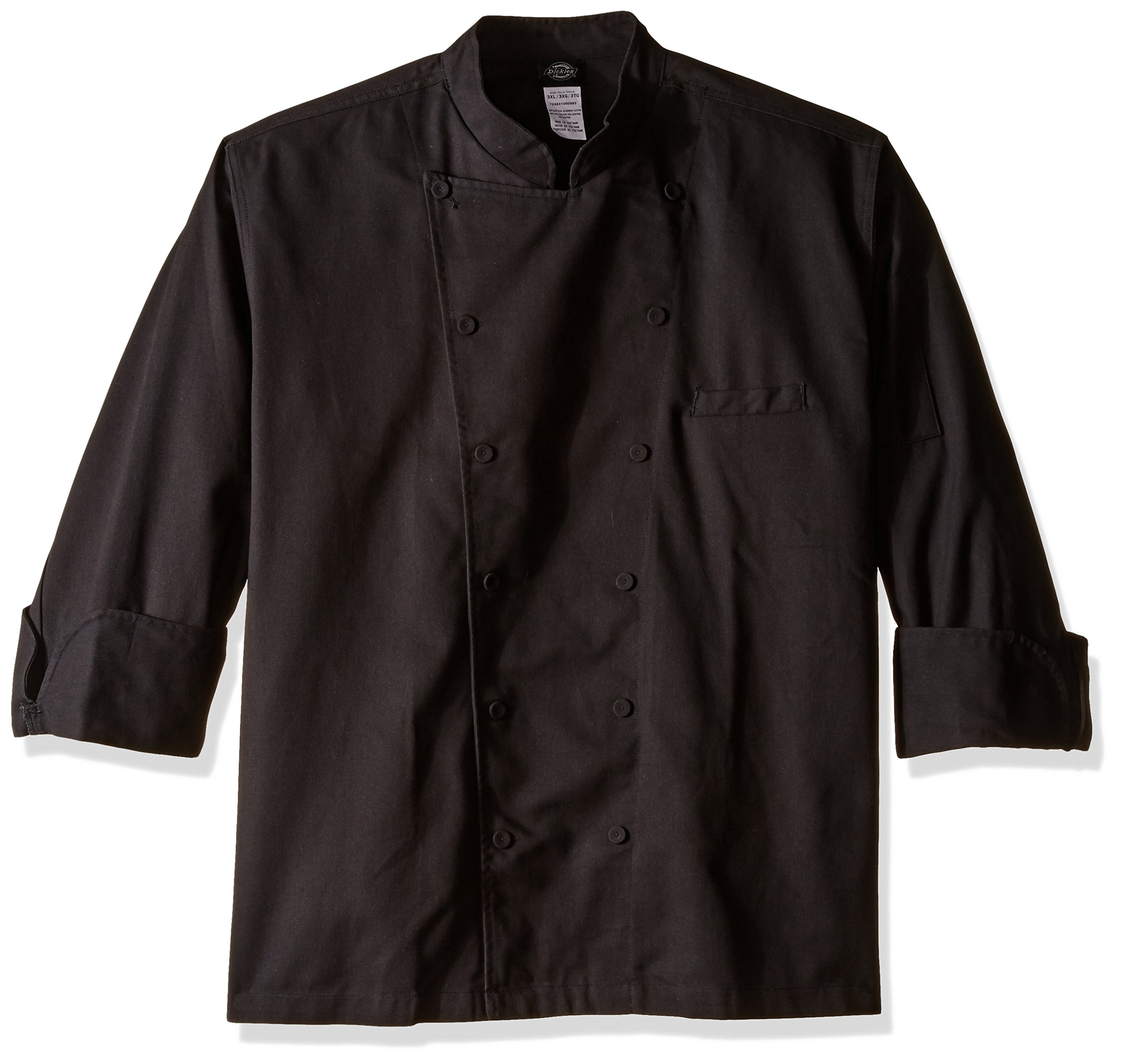 Dickies Chef Executive Coat with Stain Repellent, Black, XXX-Large