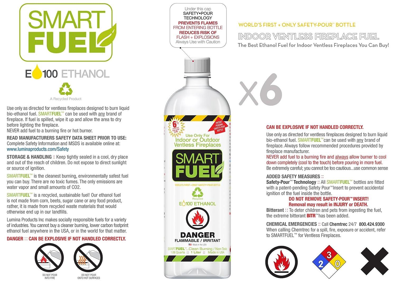 amazon com smartfuel bio ethanol fireplace fuel 1 case 12