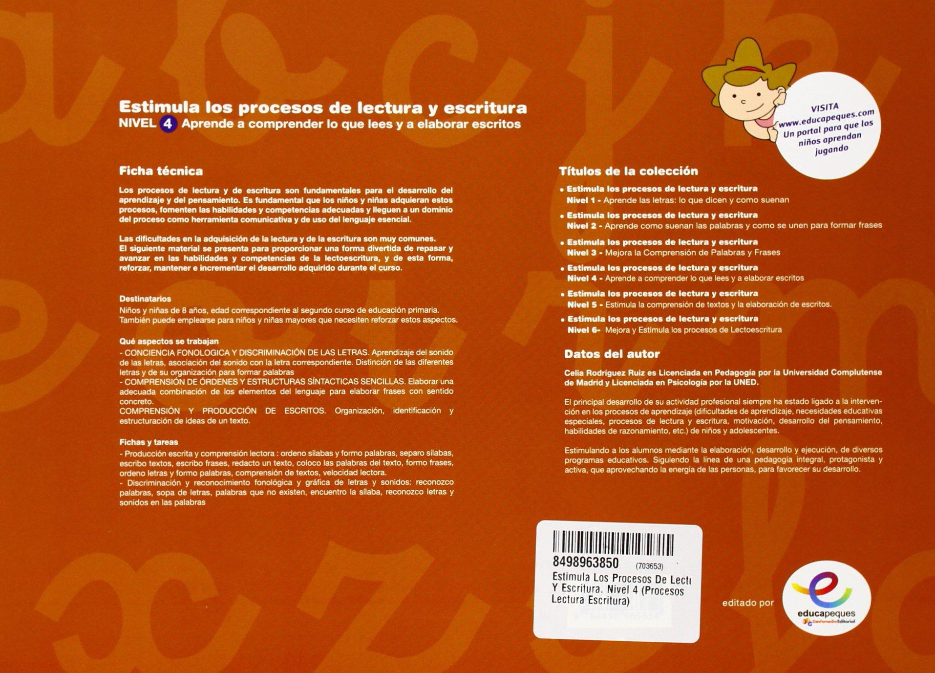 Estimula Los Procesos De Lectura Y Escritura Nivel 4
