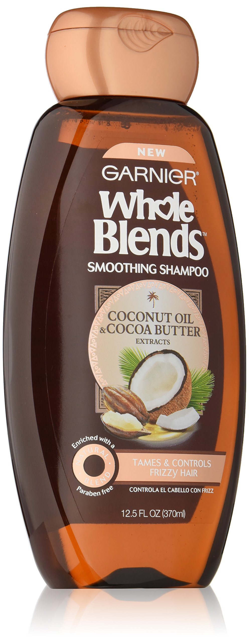 Garnier Whole Blends Shampoo with Coconut Oil & Cocoa Butter Extracts, 12.5 fl. oz.