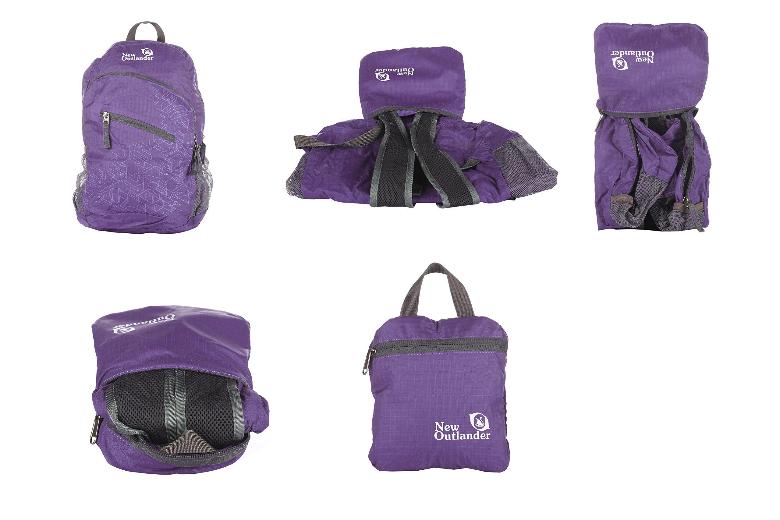 Outlander Packable Handy Lightweight Travel Hiking Backpack Daypack-Purple-L by Outlander (Image #5)