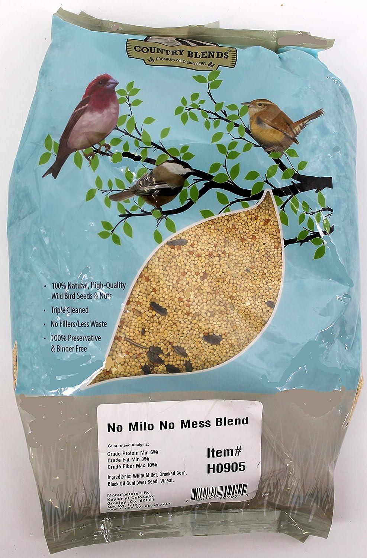 Country Blends No Milo No Mess Blend, 5 lbs Bag - Wild Bird Food Seed Mix
