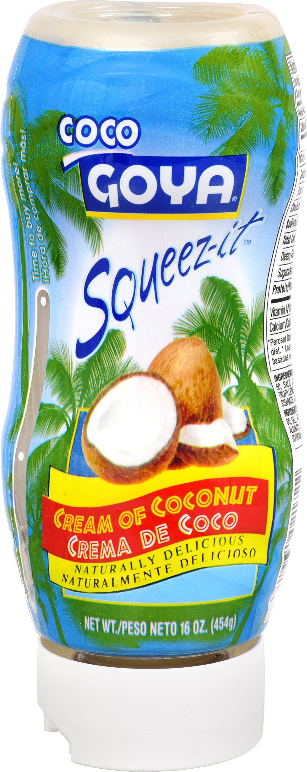 Goya Foods Cream of Coconut Squeeze-it, 16 Ounce (pack of 12)