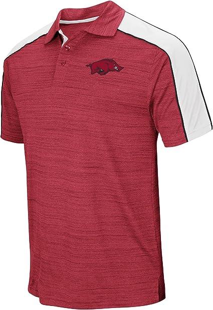 "Arkansas Razorbacks NCAA /""Bunker/"" Men/'s Performance Polo Shirt"