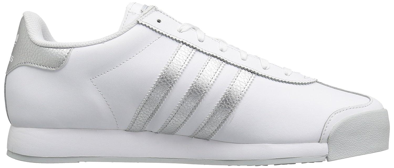adidas Originals Men's Samoa Retro Sneaker B01DIVBGK0 12 D(M) US|White/Metallic Silver/Light Grey