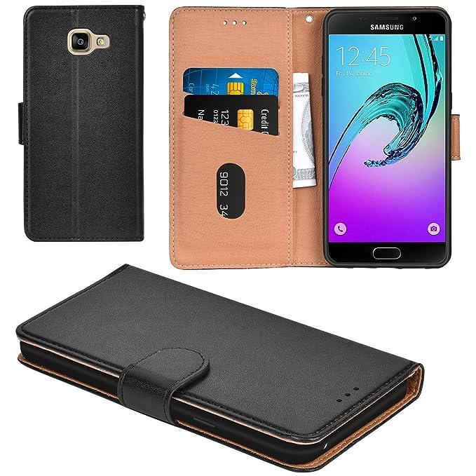 Aicoco Galaxy A5 2016 Hülle Schutzhülle Tasche Flip Case für Samsung Galaxy A5 2016 Handyhülle - Schwarz