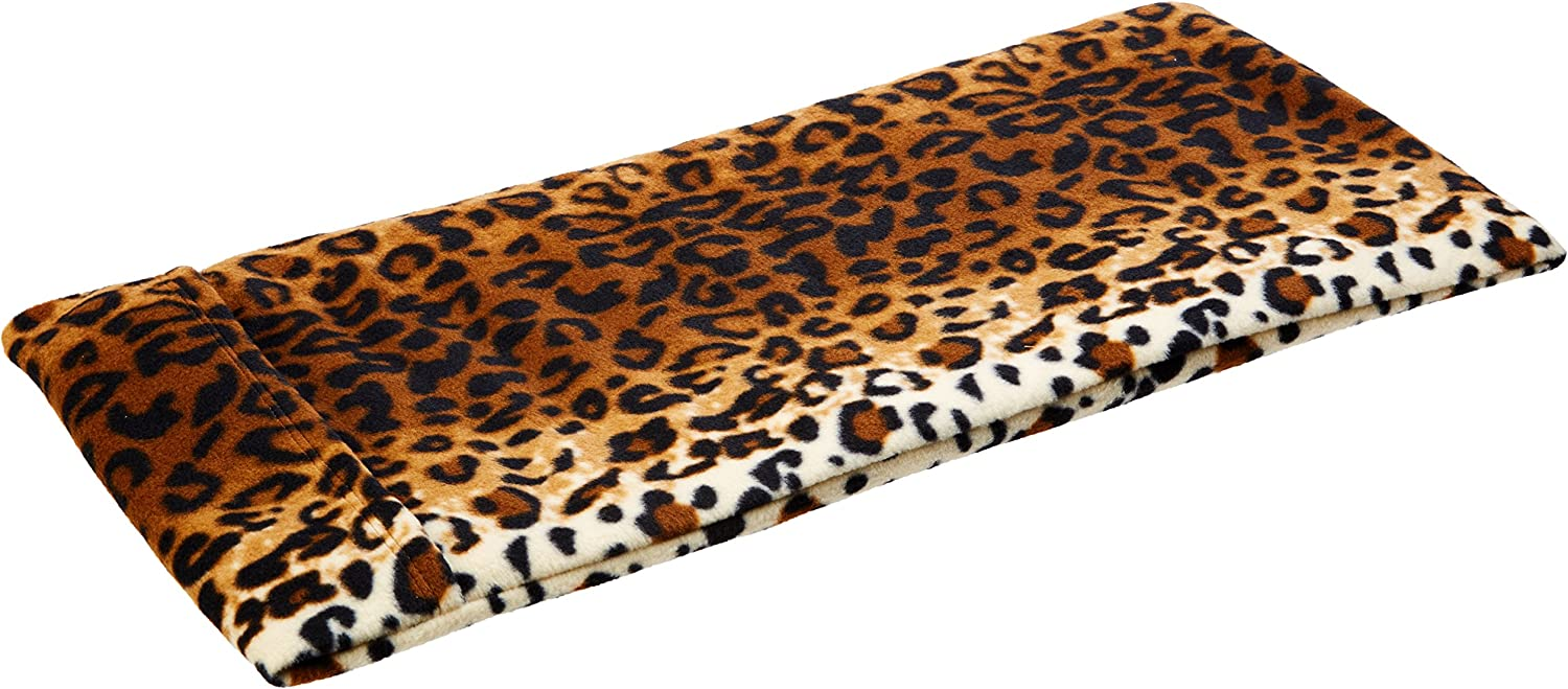Sunny Bay XL Body Heating Pad, Whole Wheat Filled, Washable Cover, Heat Therapy Pad for Sore Neck, Back & Shoulder Muscle Pain Relief–Reusable, Non-Electric Heat or Cold Compress, Leopard Print