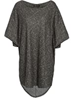 Envy Boutique Women's Oversized Baggy Batwing Jumper Top Knitted High Low Dress