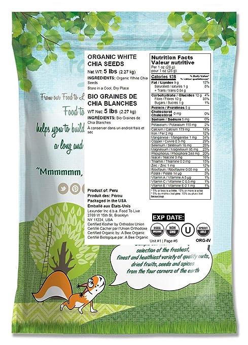 Semillas de chía orgánicas blancas: Amazon.com: Grocery ...