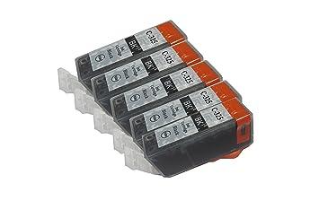 【クリックで詳細表示】【Ecolink】Canon キヤノン BCI-325BK ブラック 単品5個セット ICチップ付き BCI-326+325/6MP & BCI-326+325/5MP 対応 互換インクカートリッジ