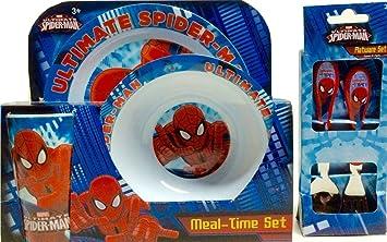 Ultimate Spiderman (Marvel) KCARE Dining Set ~ Plate Bowl Cup Fork & Amazon.com : Ultimate Spiderman (Marvel) KCARE Dining Set ~ Plate ...