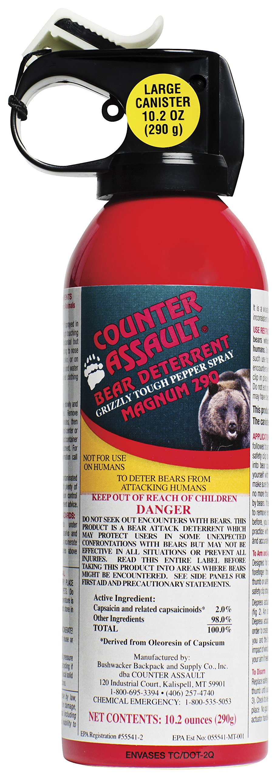 Bear Deterrent 10.2 oz Net Content (290g)