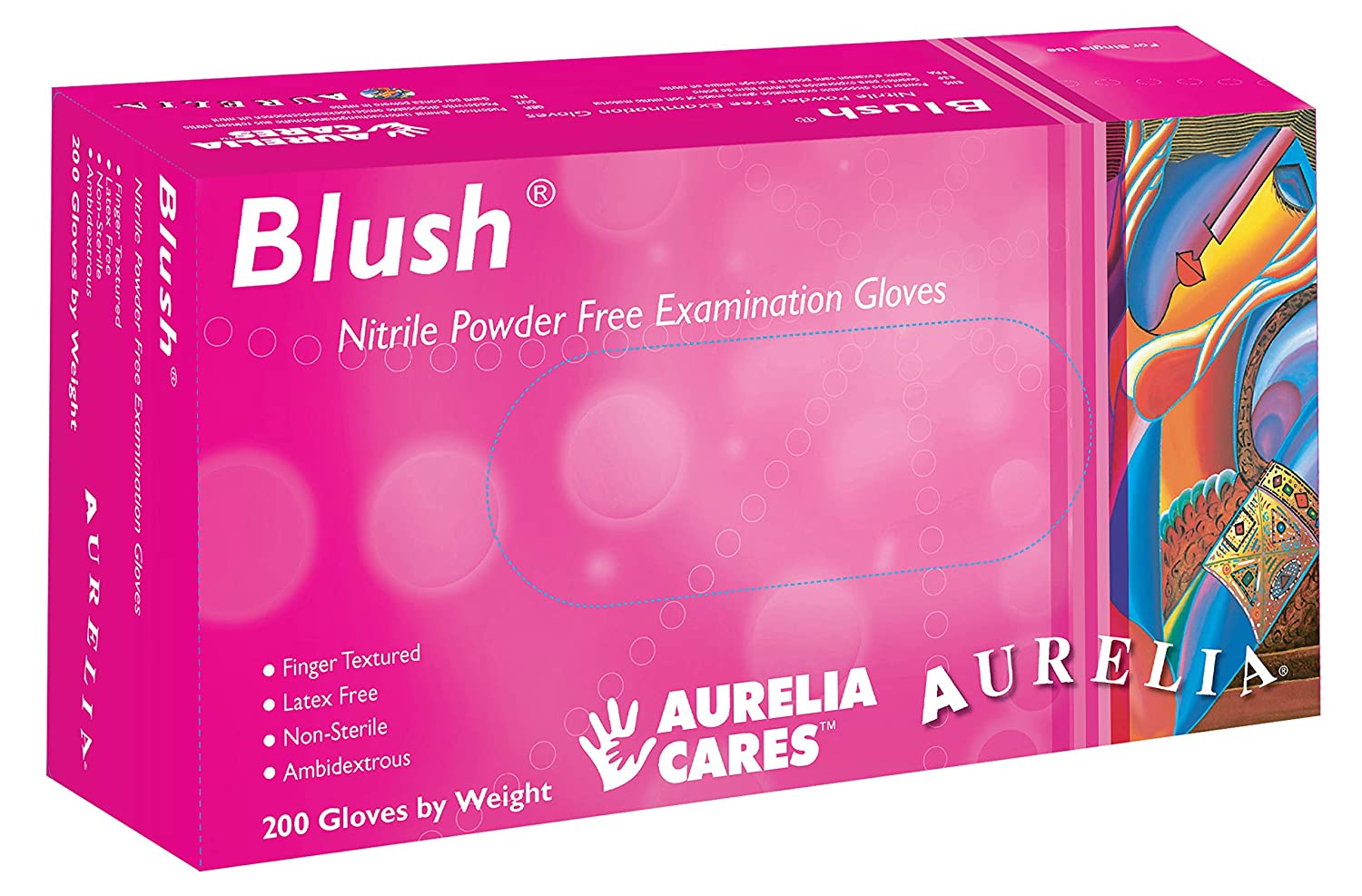 Aurelia Blush, Pink Nitrile Gloves, 2.5 Mil Thick, Size:XSmall (200 Count Box) Supermax Healthcare Inc. SUPL78885