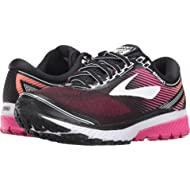 Brooks Women's Ghost 10 Black/Pink Peacock/Living Coral 9.5 D US